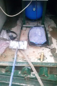 Пункт мойки колес оборотного водоснабжения
